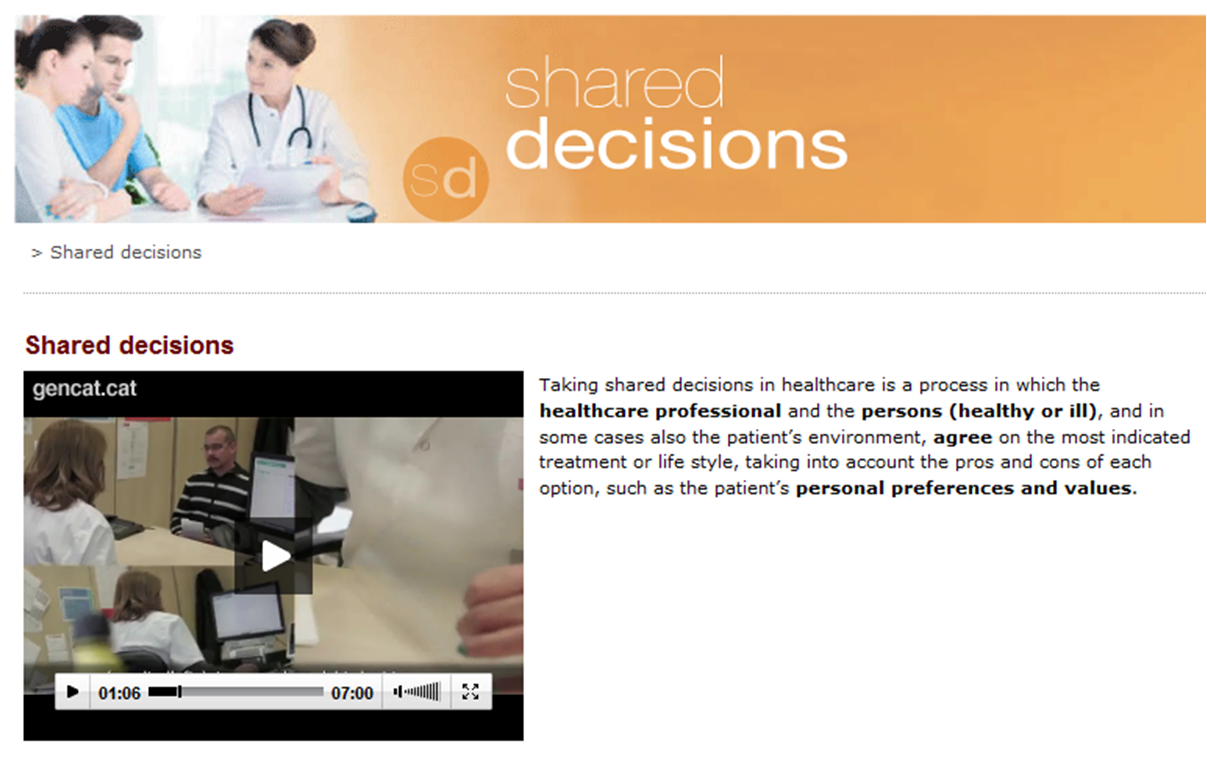 Shared decisions